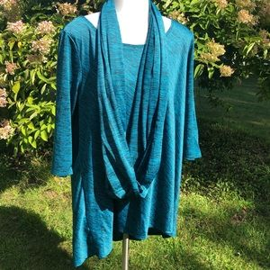 Hannah tunic and scarf set XL